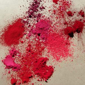 Pigments rouges - roses - violets