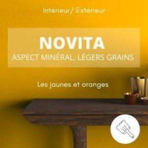 NOVITA les jaunes – aspect minéral et légers grains