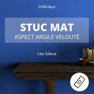 STUC MAT les bleus – aspect argile velouté