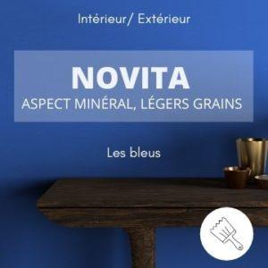 NOVITA les bleus – aspect minéral et légers grains