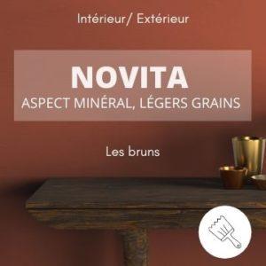 NOVITA les bruns – aspect minéral et légers grains