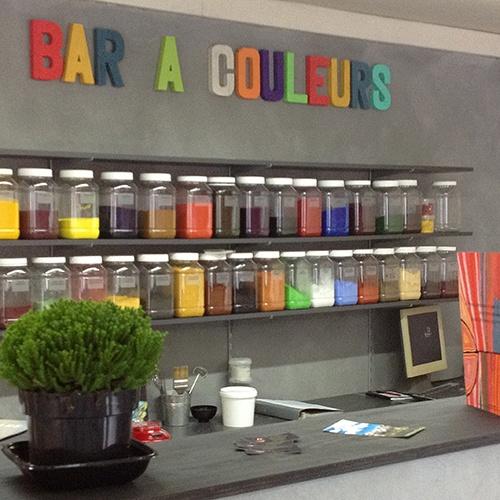 bar à couleurs, pigments pour chaux, peintrue à la chaux, enduit à la chaux