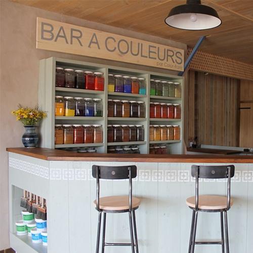 Bar à couleurs, pigments, peinture naturelle, pigments Montaut