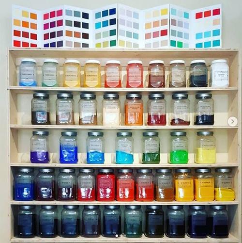 Pigments pour la chaux, coloration peinture naturelle, couleurs pour enduit