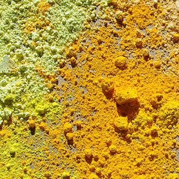 pigments jaunes, aquarelle jaune, coloration peinture en jaune, teintée peinture en jaune