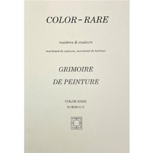 color rare, livre, grimoire de peinture