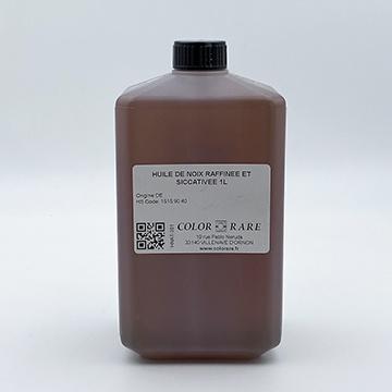 color-rare, bordeaux, huile de noix raffinée et siccativée