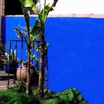 peinture à la chaux, bleu de majorelle, peinture bleu outremer 54