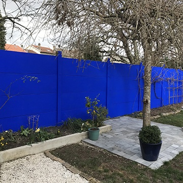 peinture bleu extérieur, peinture jardin majorelle, peinture bleu maroc, bleu klein, bleu outremer 54