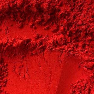 pigment rouge, colorare